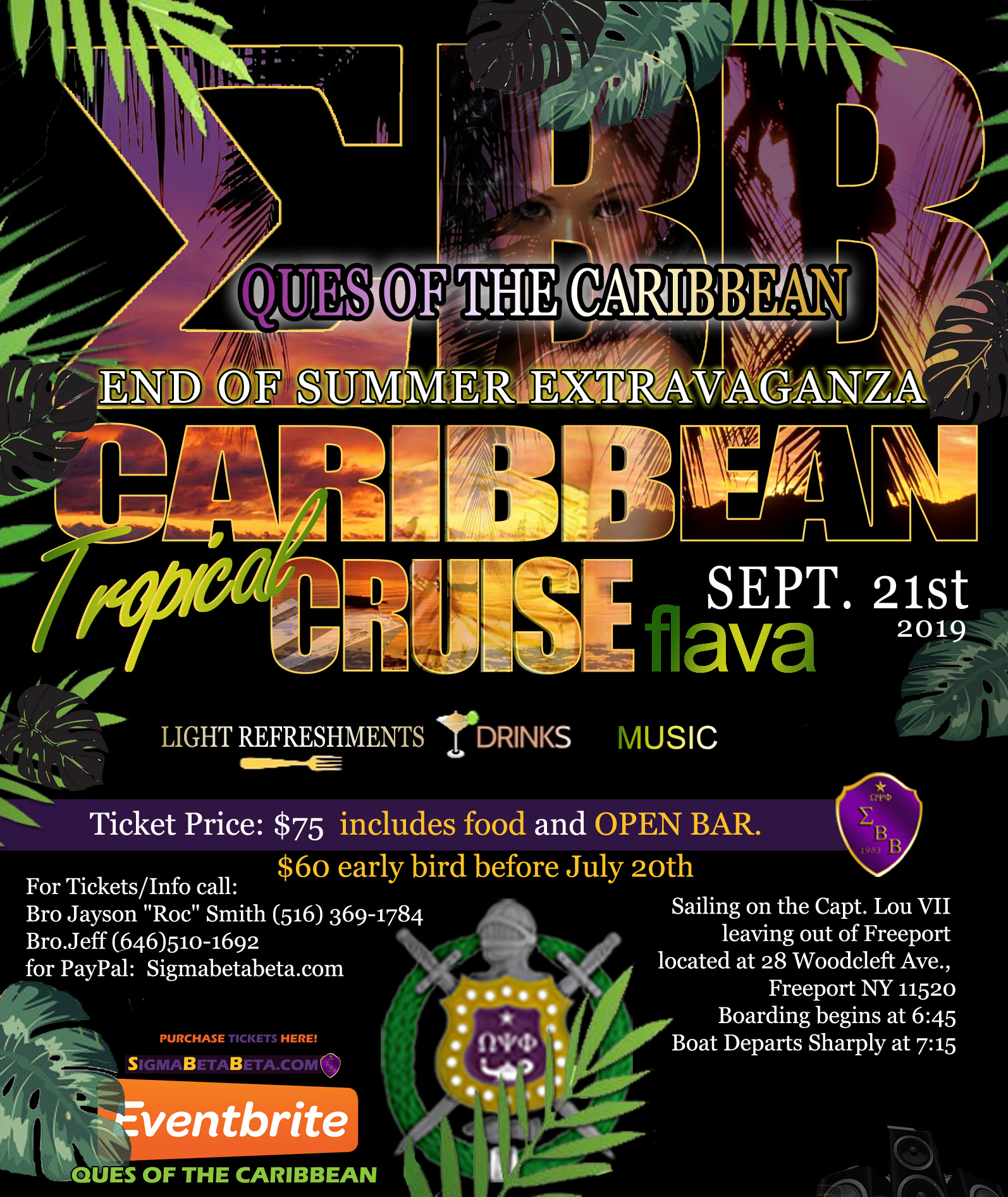 SBB Caribbean Tropical Cruise Flava Party Boat